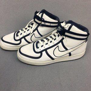 Nike Blue White Vandal Mens Hi Top Sneakers